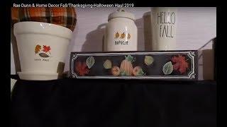 Rae Dunn & Home Decor Fall/Thanksgivng-Halloween Haul 2019