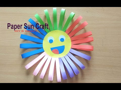 HOW TO MAKE EASY COLORFUL ORIGAMI 🌞 PAPER SUN | DIY K CRAFT