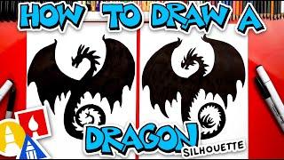 How To Draw A Drągon Silhouette