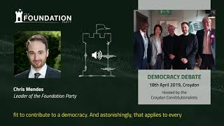 Democracy, Brexit and the Foundation Party | Leader's Speech