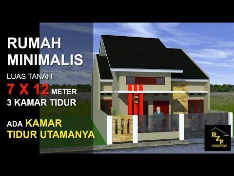 Rumah Minimalis Luas Tanah #7X12 Meter #3 Kamar Tidur - YouTube