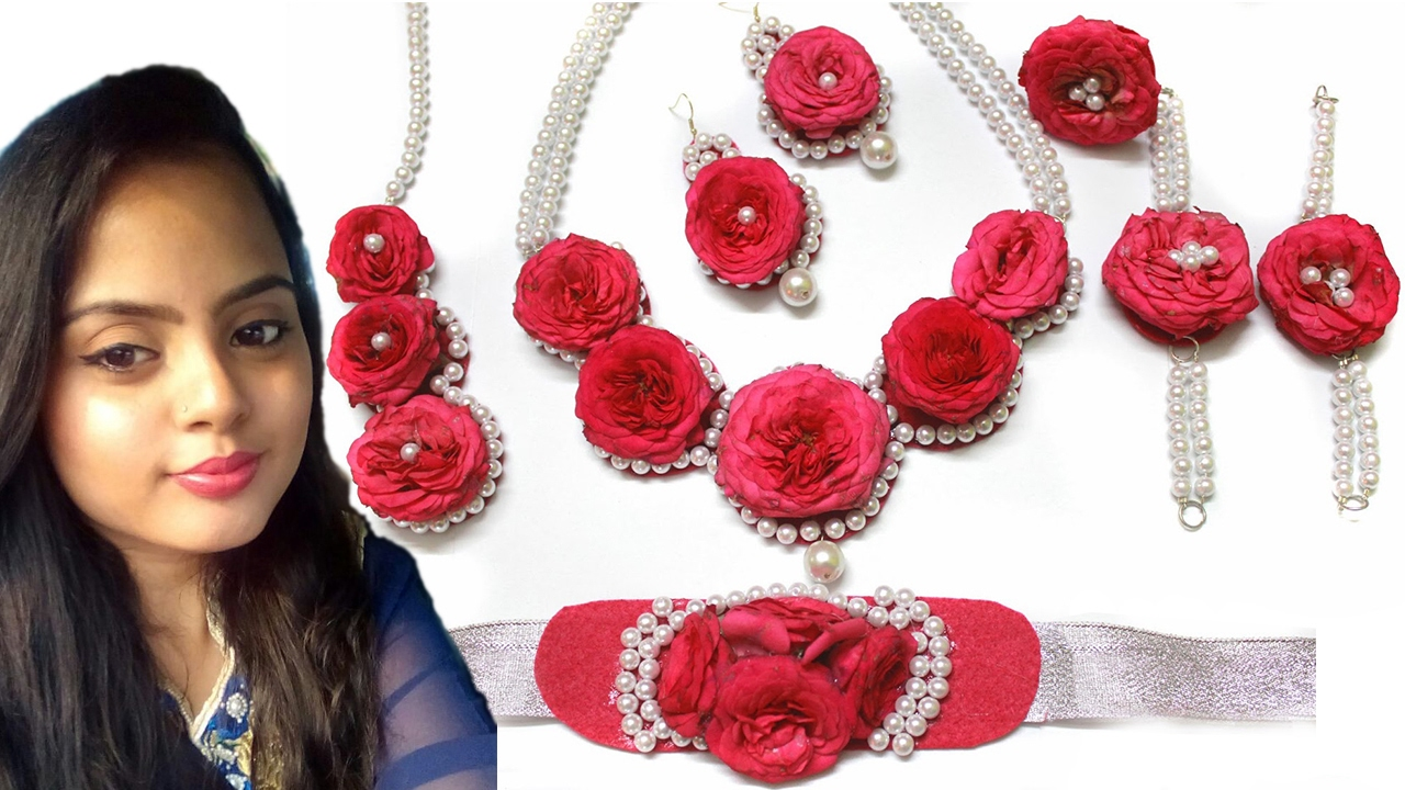 easy DIY Flower Jewelry For Brides l Beautybox - YouTube