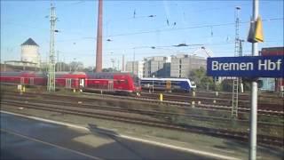 Zugfahrt von Bremen nach Bremerhaven