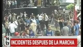 Incidentes tras la movilización de la CGT