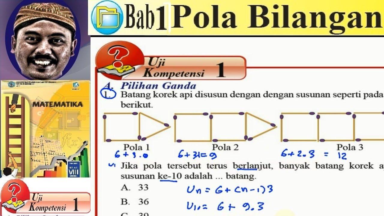 Pola Bilangan Matematika Kelas 8 Bse Kurikulum 2013 Revisi 2017 Uk 5 1 No 01 Pola Batang Korek Youtube