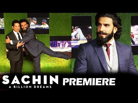 Ranveer Singh At Sachin A Billion Dreams GRAND PREMIERE