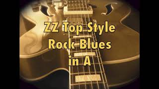 ZZ TOP ROCK BLUES STYLE BACKING TRACK IN A