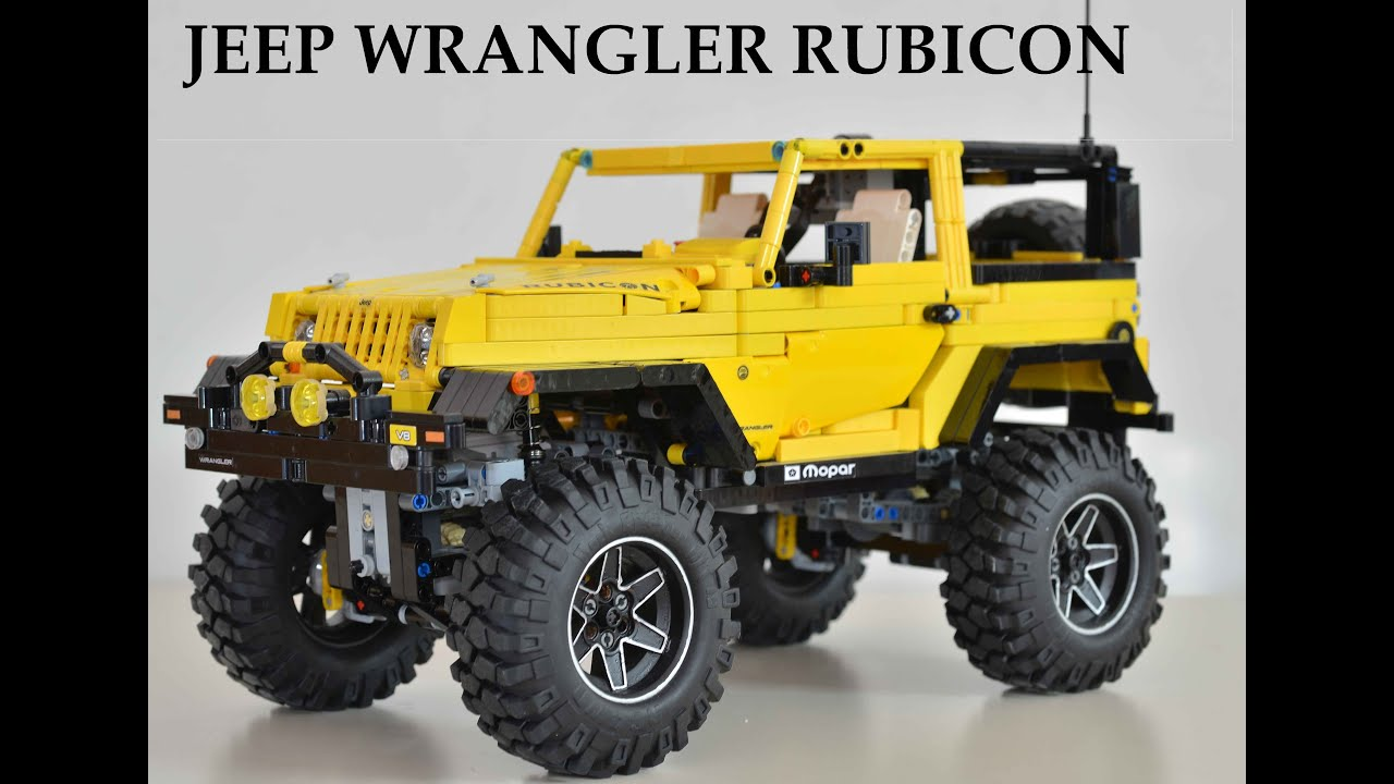 lego technic moc rc jeep wrangler rubicon youtube. Black Bedroom Furniture Sets. Home Design Ideas