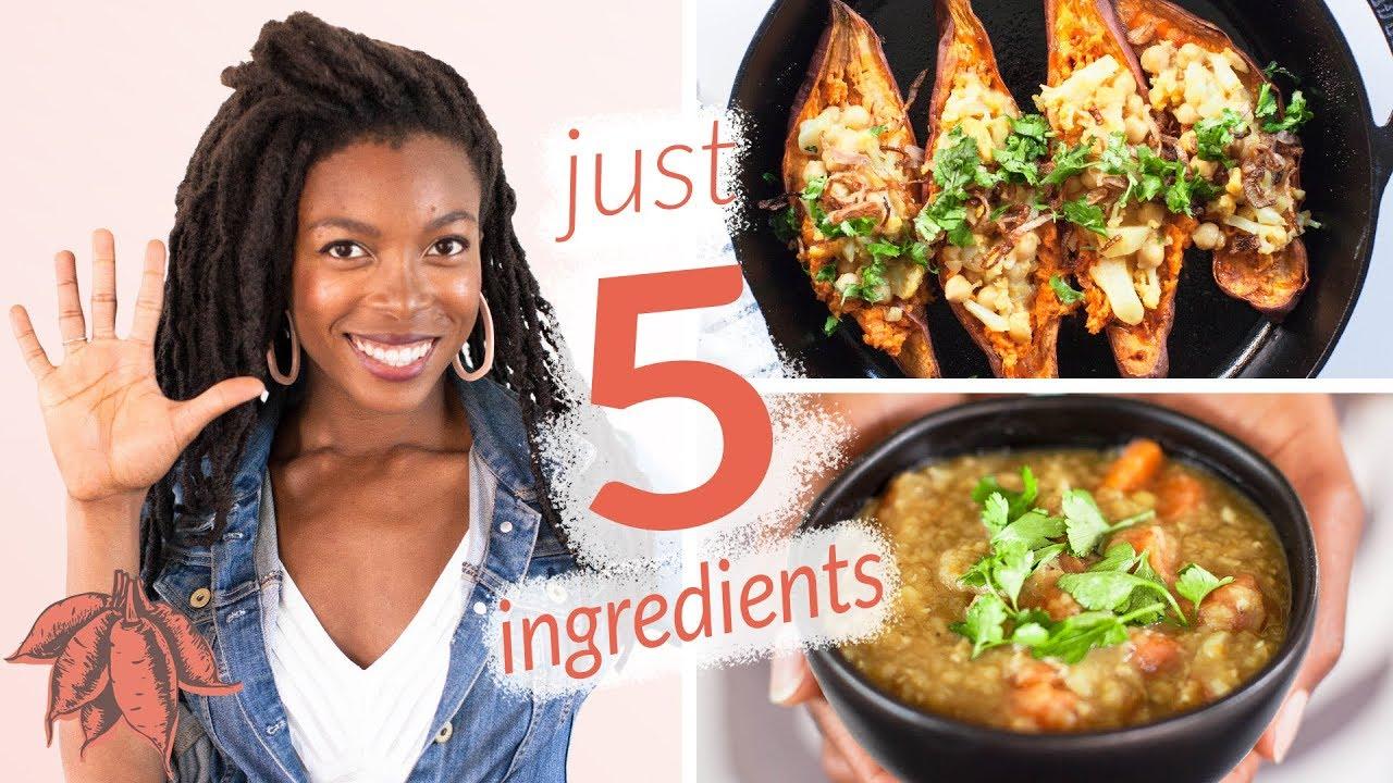 Hella Yummy 5 Ingredient Vegan Recipes