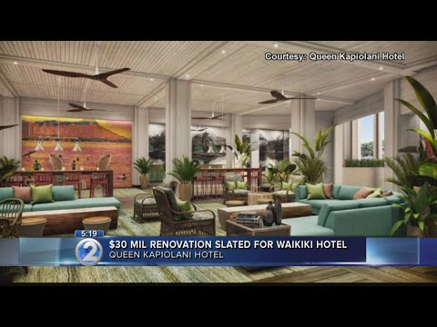 Queen Kapiolani Hotel to undergo $30 million renovation