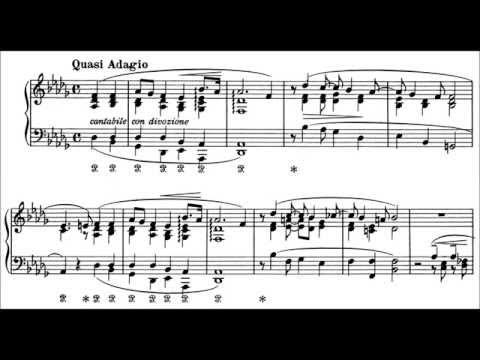 Franz Liszt - Consolation No. 4 (audio + sheet music)