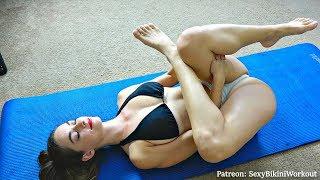 Sexy Bikini Yoga at Home!