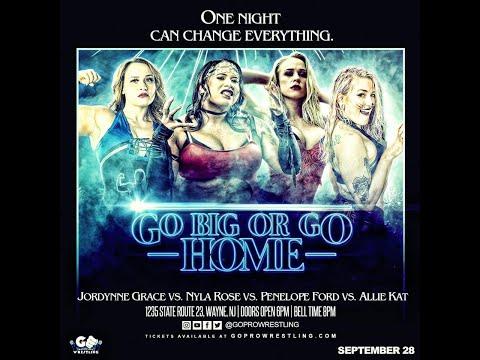 Allie Kat v Jordynne Grace v Nyla Rose v Penelope Ford   GO Pro Wrestling