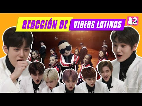 *SUB* K-pop idols y latinas reaccionan a videos musicales I Daddy Yankee, Ozuna, Camilo, Reik