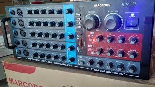 AMPLI POWER KARAOKE MARCOPOLO MC-9208.