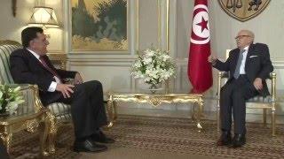 رئيس الجمهورية يستقبل رئيس مجلس رئاسة الوزراء الليبي المكلف