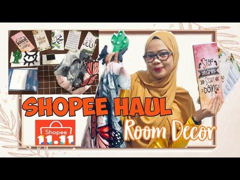 shopee haul room decor - perlengkapan dekor kamar unik dan