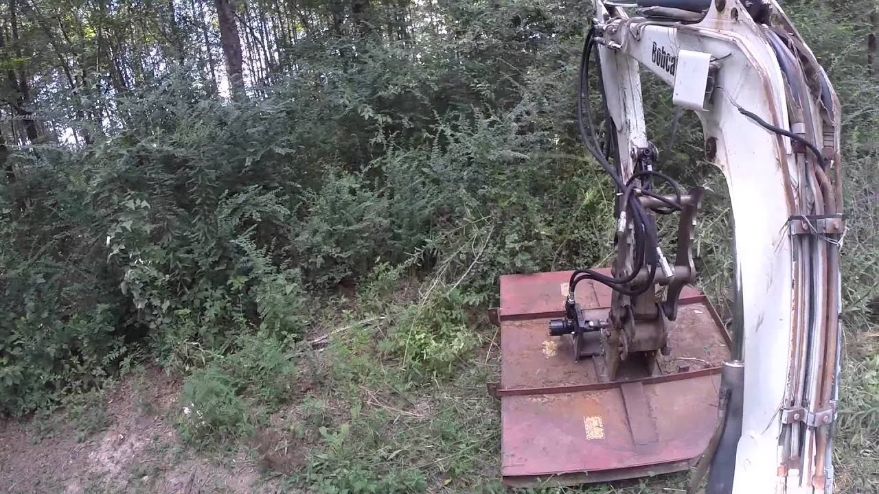 Mini Excavator Rotary Cutter Youtube