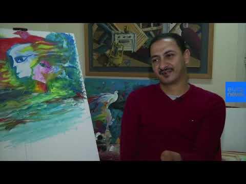 تعرف على رضا فضل.. فنان يرسم بفمه وقدميه  - 18:54-2018 / 12 / 14