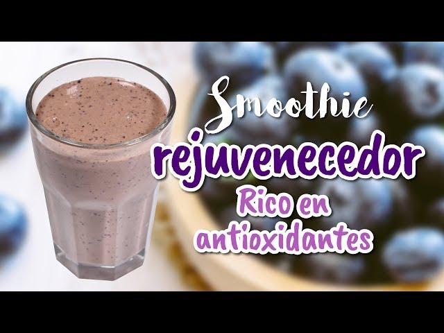 Smoothie rejuvenecedor rico en antioxidantes