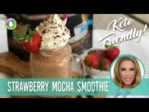 Strawberry Mocha Smoothie Recipe(Sugar-Free & High Protein) Protein Treats By Nutracelle
