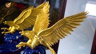 Chi tiết - Tượng đại bàng tung cánh (dát vàng)
