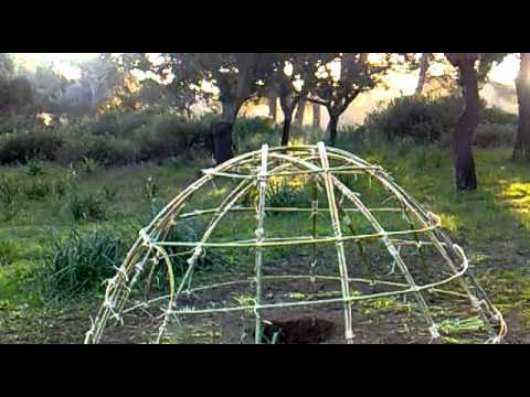 building a sweat lodge - YouTube