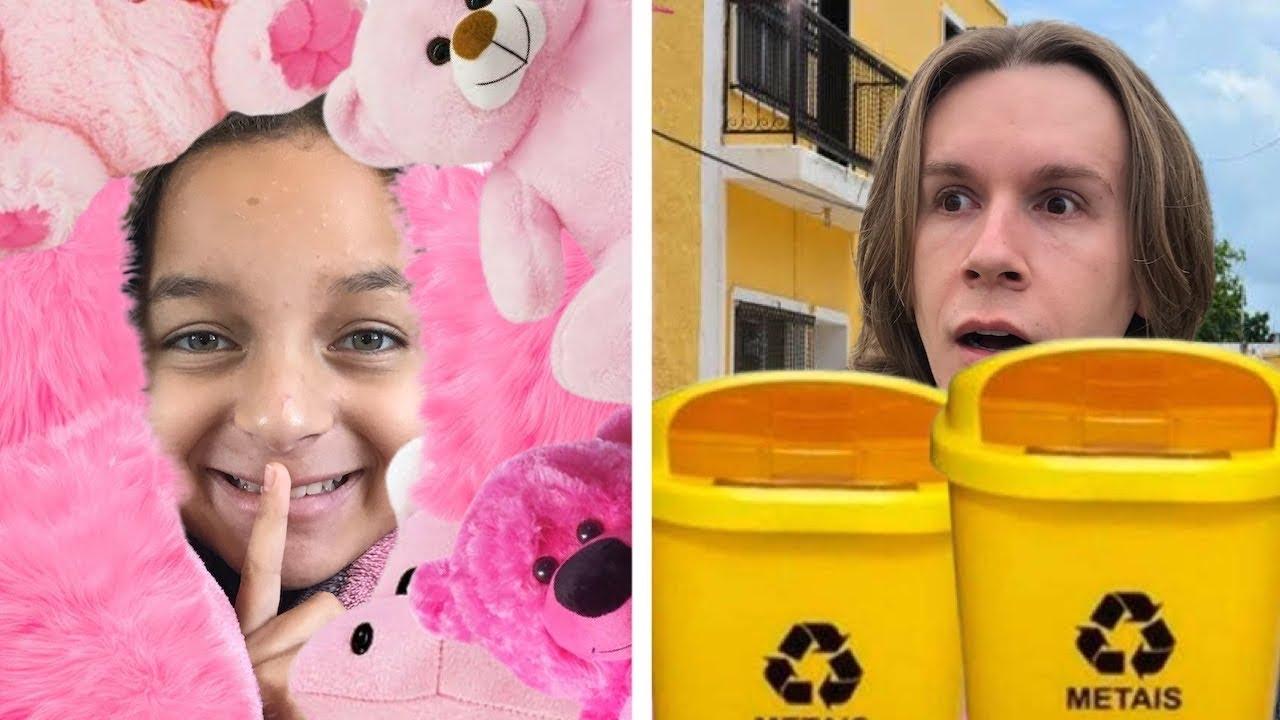 ESCONDE ESCONDE USANDO A COR SORTEADA / ft. Tio Lucas e Laila