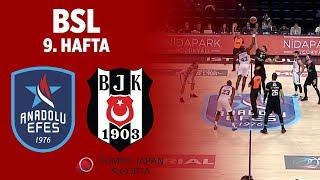 BSL 9. Hafta Özet | Anadolu Efes 86-90 Beşiktaş Sompo Japan