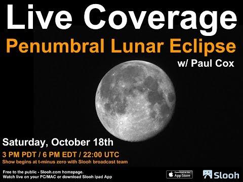 Watch Live: Partial Lunar Eclipse Darkens Moon's Surface