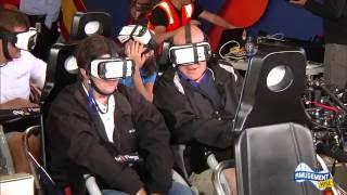 Superman: The Ride Virtual Reality Coaster reverse POV