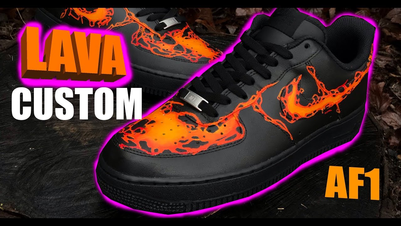 Custom Air Force 1 Lava Edition Jordan Vincent Youtube