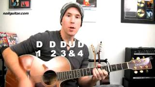 'Hey Soul Sister' Train - Ultra Easy Acoustic Guitar Lesson Song Tutorial