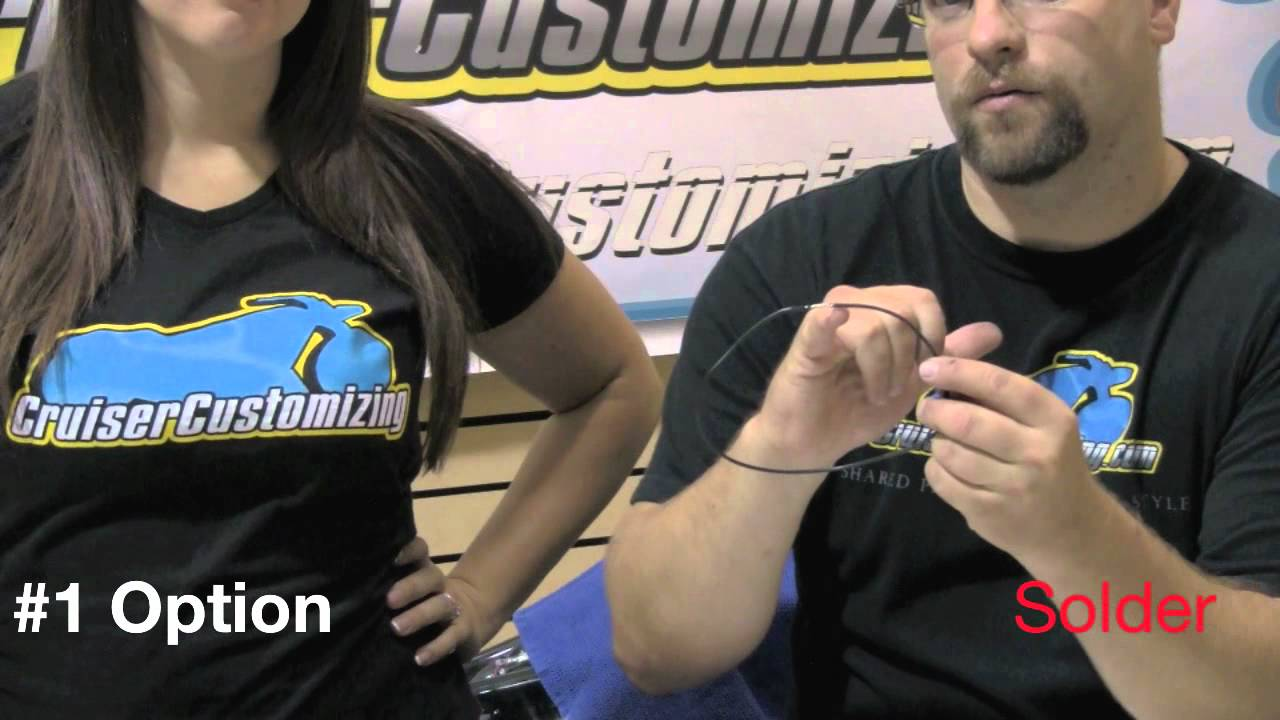 medium resolution of motorcycle handlebars how to install internal wiring video guide tip of the week youtube