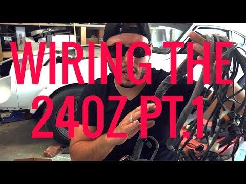 ortega drives wiring a v8 datsun 240z part 1! youtube 280z ignition switch wiring diagram