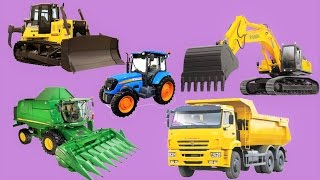 Мультики про #машинки для детей🚜🚚 Ферма Трактор Грузовик Комбайн все серии подряд Мультфильмы 2017