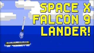 SpaceX Falcon 9 Lander - 8-Bit Flash Game