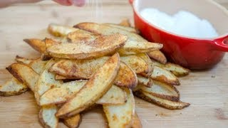 Garlic Herb Steak Fries thick french fries recipe