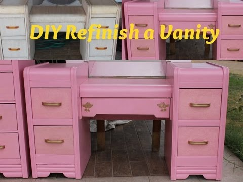 My Pink Vintage Vanity ♡ Before And After