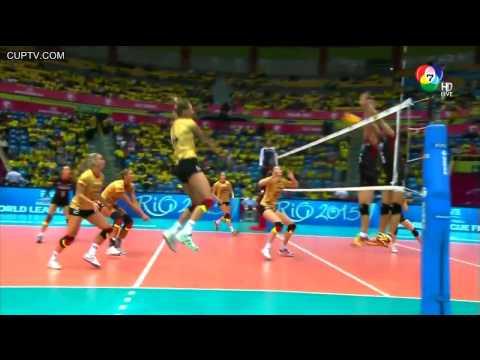 [HD] FIVB Volleyball World Grand Prix 2015  THAILAND vs GERMANY