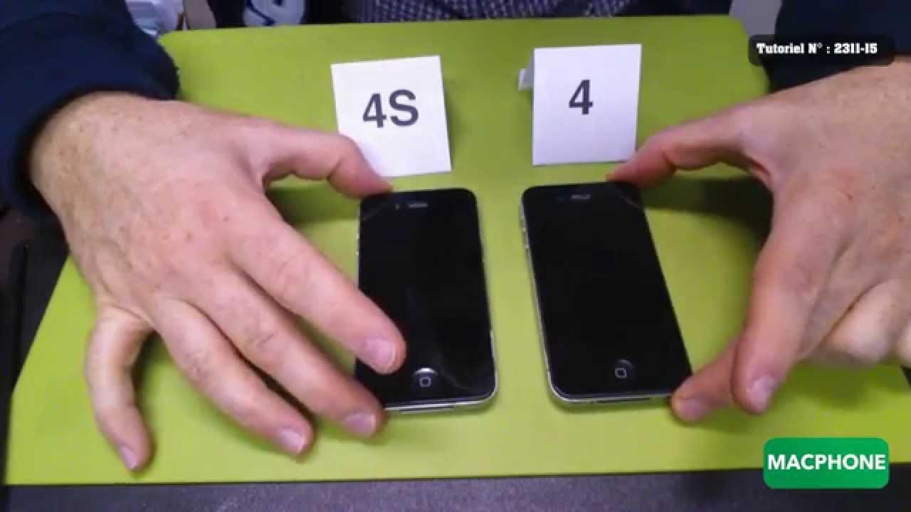 Différencier un iPhone 4 d'un 4S au premier coup d'oeil