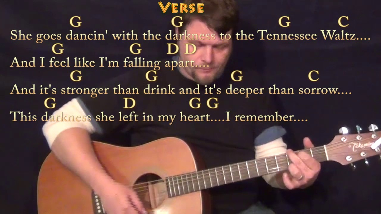 Tennessee Waltz Guitar Lesson Chord Chart In G With Chordslyrics