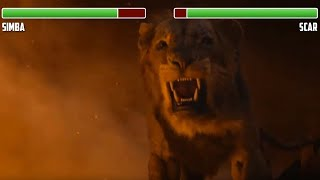 Simba vs Scar WITH HEALTHBARS  Final Fight  HIGH QUALITY  The Lion King 2019