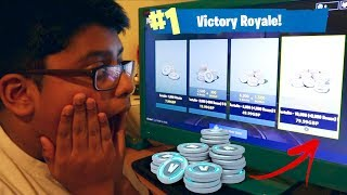 I gave my brother 10,000 V BUCKS every 10 minutes on FORTNITE (BACKFIRES)
