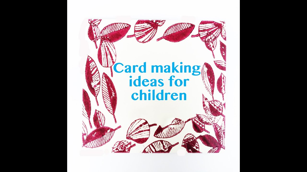 Card Craft Ideas For Kids Part - 29: Card Making Craft Ideas For Children - YouTube