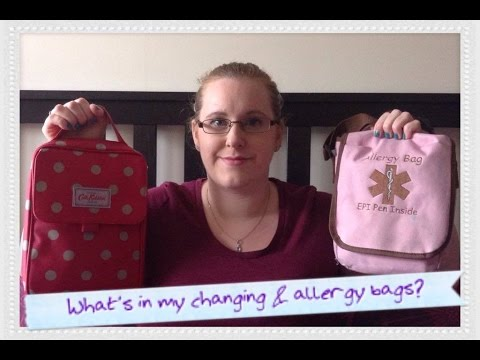 What's in my changing and allergy bags (preschool age kids)