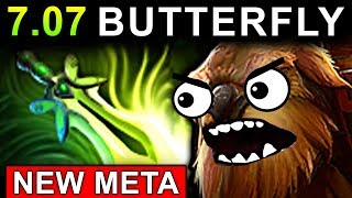 NEW META BUTTERFLY EARTHSHAKER - DOTA 2 PATCH 7.07 EPIC GAMEPLAY IT...