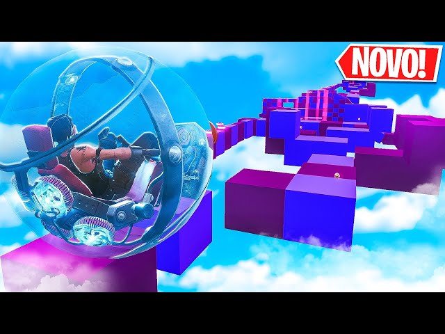 PARKOUR COM A *NOVA* BOLA DE HAMSTER NO FORTNITE! (Ft. Canal Intenso)