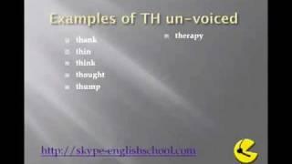 Pronounciation - th sounds