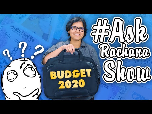 Q&A Indian Union #Budget2020 Special #AskRachanaShow By CA Rachana Ranade